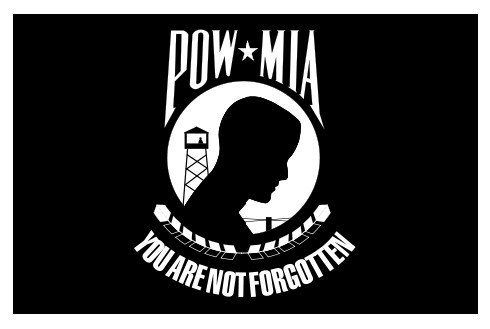 Perma-Nyl 2'x3' Nylon Double Seal POW/MIA Flag Made in USA