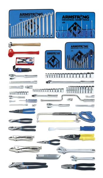 Armstrong 139 Pc. Metric Basic Set - Tools Only - American Made
