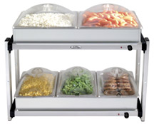 BROILKING MULTI-LEVEL BUFFET SERVER - 2-4.3 & 3-2.6 DISHES - PLASTIC LIDS