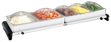 BROILKING JUMBO BUFFET SERVER W/ CLEAR LIDS - Made in America