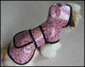 Pink Posy Dog Raincoat - American Made