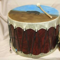 "16"" Ceremonial Rawhide Drum  - Made in America"