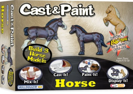 Cast & Paint Model Kit: Horse with Blopens