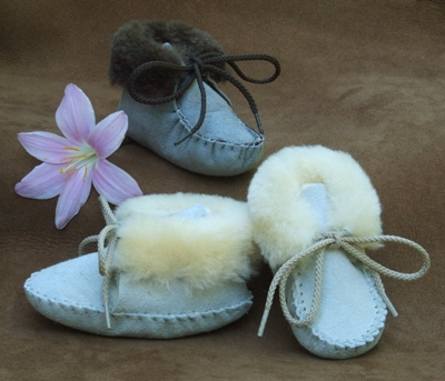 Footskins Toddler's Sheepskin Booties - Made in America
