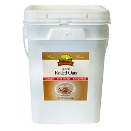 Quick Rolled Oats, 10-lb. Pail Made in USA!