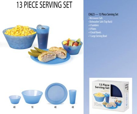 American Made 13 Piece Serving Set