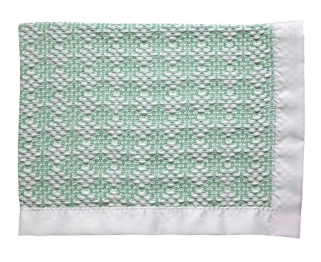 Two Tone Diamond Weave Baby Blanket Made in America