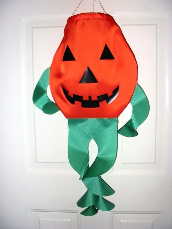 Punkey Pumpkin Windsock Made in USA