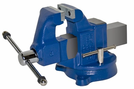 Heavy Duty Industrial Machinists' Bench American Made Vise - Swivel Base