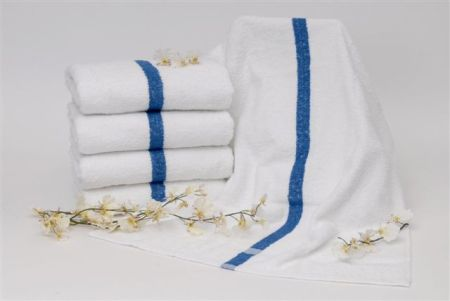 Dependabillity Blue Stripe US Made Towels - Pool Towels