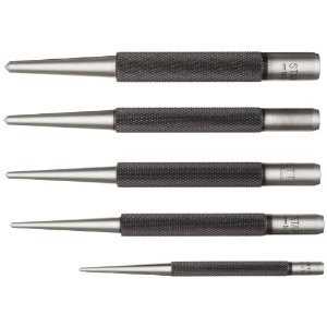 Starrett S117PC 5 Piece 1/16-Inch to 5/32-Inch Center Punch Assortment in Plastic Case