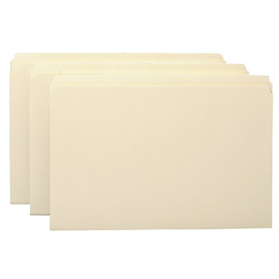 Carton of 1000 Legal Size Straight Cut Top Tab Folders Made in USA