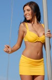 Calypso Underwire top and Skirted Bikini