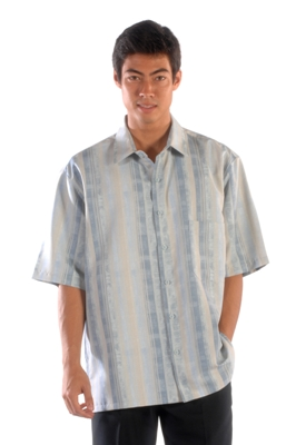 Casual and Elegant Short Sleeve Print Shirt Made in USA