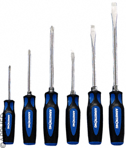 Armstrong  6 Pc. (Standard, Phillips) Dual Material Screwdriver Set  Made in America