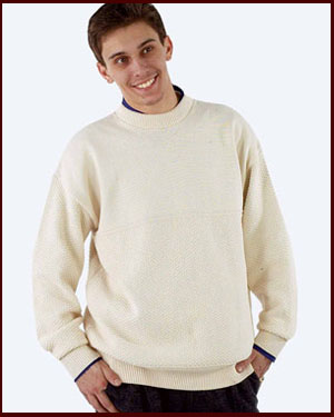 Mens/Unisex 100% Cotton Crew Neck Sweater Made in USA