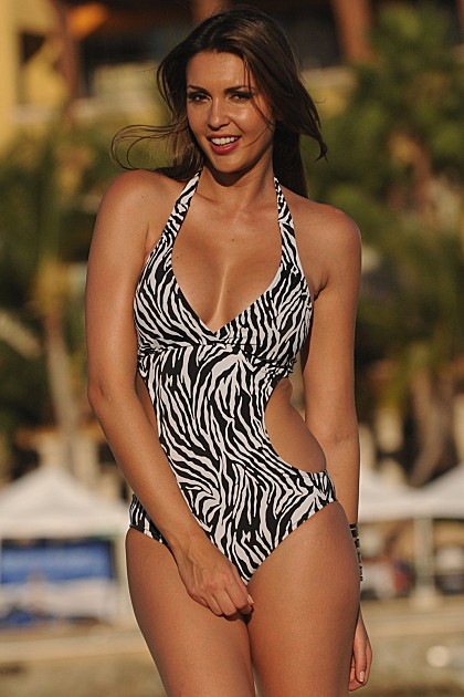 Zebra Cut-Out Bathing Suit - Made in America - On Sale Now!