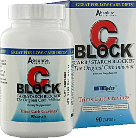 Absolute Nutrition C Block Carb and Starch Blocker American Made - 90 Caplets