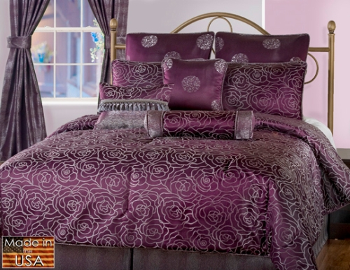 Victor Mills Amethyst Comforter Set Made in USA