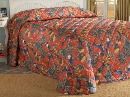 Bahamas Bedspread Made in USA