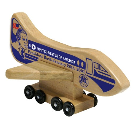 Holgate Toys Air Force One President Bush Wooden Toy - American Made