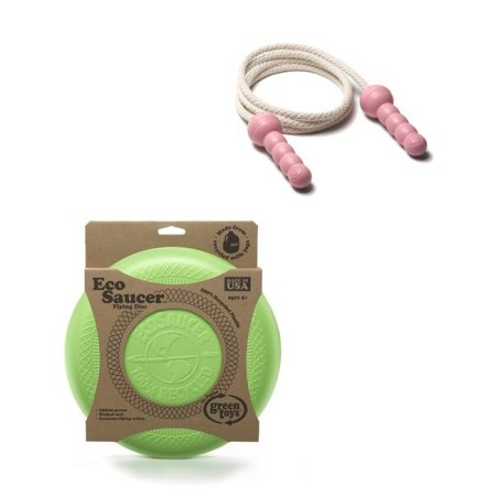 Green Toys� EcoSaucer� Flying Disc and Pink Jump Rope Made in USA