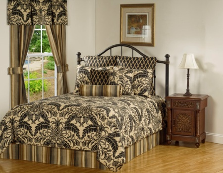 Victor Mills Grand Isle Coal Comforter Set Made in USA