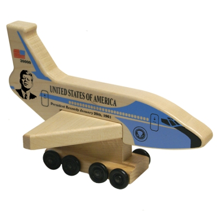 Air Force One President Kennedy Wooden Toy - Made in America
