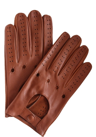 Mens American Made Leather Driving Gloves