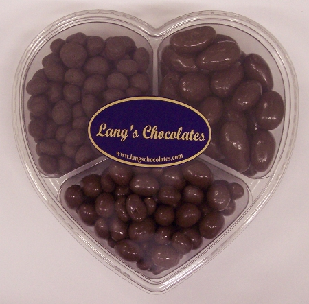 Heart  Chocolate with Almonds, Peanuts, and Raisins Made in USA
