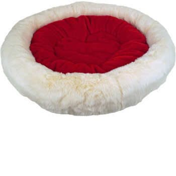 "45"" Slumber Circle Pet Bed (Red) Made in USA"
