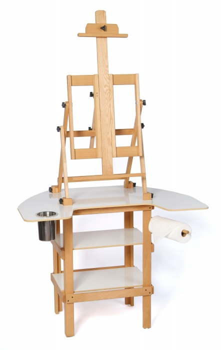 American Easel Oak Premier Paint Station Easel Made in USA