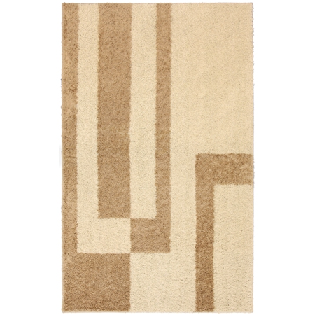 Mohawk Select Loft Shag Prism/Apple Butter Biscuit Rug Made in USA