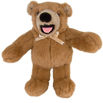 Smiley Borwn Teddy bear Made in USA