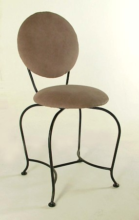 "18"" Vanity Stool with Upholstered Back"