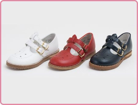 Children's Classic English Strap Leather Shoe American Made
