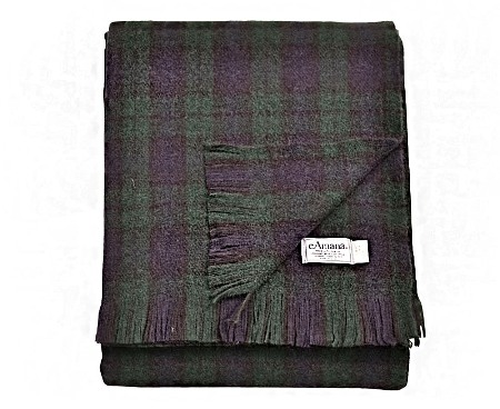 Wool Throw Blanket Made in USA - Tartan Plaids