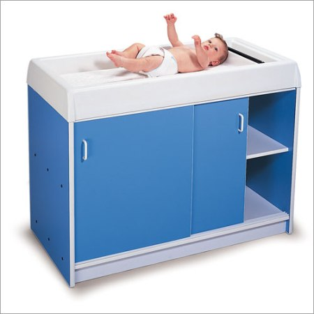 Round-Edge Infant Care Changing Cabinet Made in USA