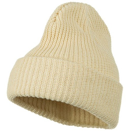 Ribbed Cuff Big Size Cotton Beanie Made in America