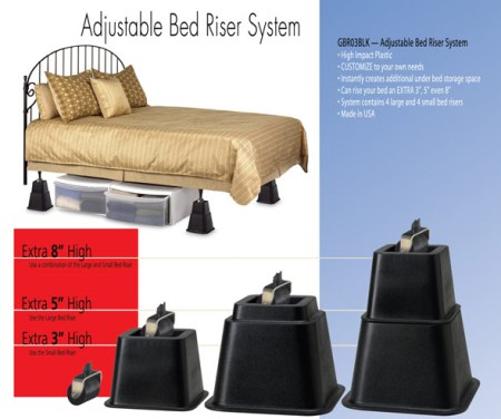Adjustable Bed Riser System Made in USA