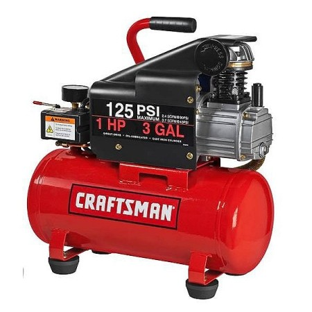 Craftsman  3 Gallon Horizontal Air Compressor American Made
