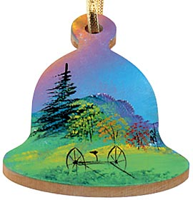 Maple Landmark Handpainted Ornaments American Made - Bell