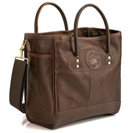 Pebbled Leather Sportsmans Tote American Made by Duluth Pack