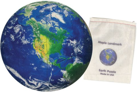 Earth Jigsaw Puzzle Made in USA by Maple Landmark