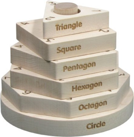 Maple Landmark Shape Stacker Made in USA