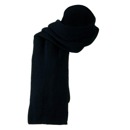 Cotton Acrylic Rib Scarf  Made in America - NAVY