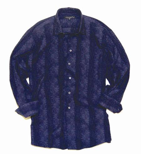 Tonal Stretch Jacquard Shirt Made in USA by Andrew David