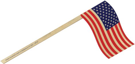 US Stick Flags - US Flag Made in USA - Set of 3