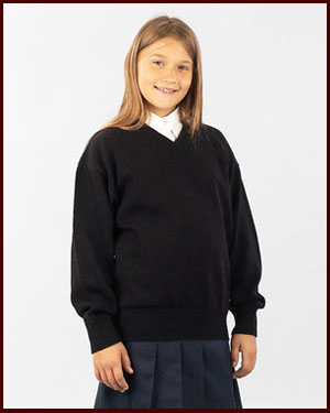 V-Neck Sweater Made in USA Junior sizes