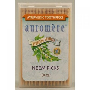 Auromere Neem ToothPicks Made in USA - 100 Ct, 12 Pack